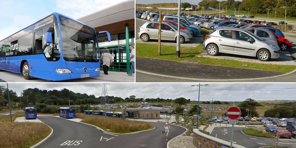 Truro park and ride, Cornwall, UK
