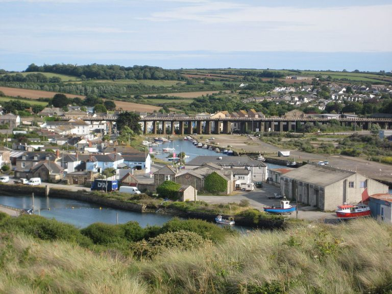 Waldon Security works in Hayle - view of the Hayle Estuary