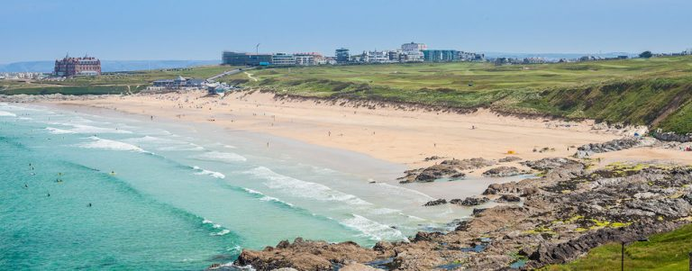 Waldon Security works in Newquay, Cornwall - picture of Fistral Beach